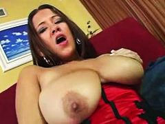 Big girl in a red sati... - Alpha Porno