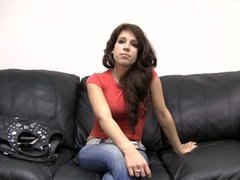 sexy, couch, brunette, teen, backroom, kayla, amateur, casting couch