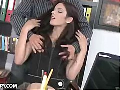 Brunette secretary Mir... video