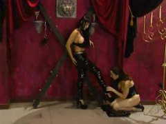 latex, stockings, chained, fetish, spanked, handcuffed, corset, gagging, lezdom, slave