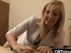 guy, gives, handjob, blowjob, cbt handjob