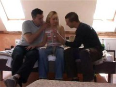 Nasty blonde gets stri... video