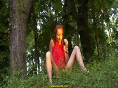 Natasha Shy forest girl video
