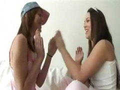 Two girls having fun a... video