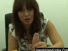 Brunette boss takes it... video
