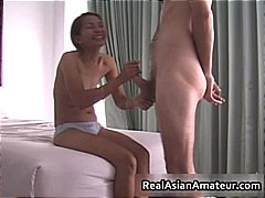 Small tits asian babe ... video