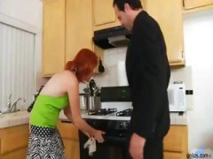 Fiery redhead MILF suc... video