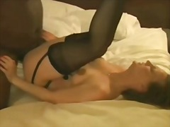 interracial, cream pie, black, amateur, white, wife,