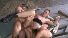 Military threesome wit... video