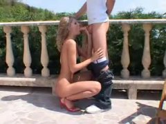 blowjob, outdoor, doggystyle, ideal, blonde, skinny, high heels, girl, riding, small tits, lover, babe