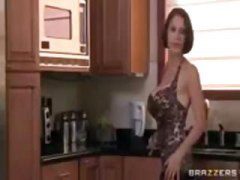 Brunette MILF, with hu... video
