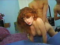 cumshot, pussy, red head, classic, redhead, blowjob, threesome, hairy, red, facial