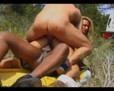 Girl with two men out unde... - 10:51