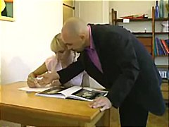 French blonde schoolgi... video