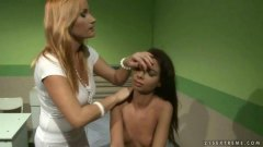 Mistress punishing cute slavegirl