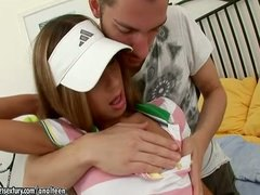 russian, uniform, anal, teen, blonde, tennis, assfuck