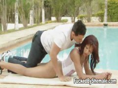 Nuvid Movie:Shemale splits her lovers buns