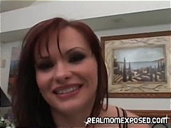 cumshot, milf, blow-job, red head, cougar,