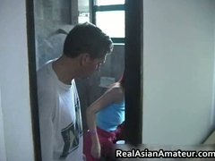 Tube8 Movie:Cute smiling asian spreads and...