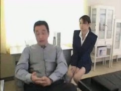 Office girl with CEO video