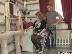 Mom rides son in law c...