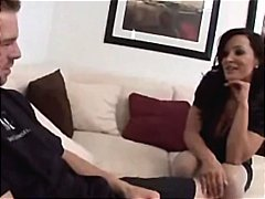 Brunette MILF Lisa Ann invites her son-in-law over for a fucking session