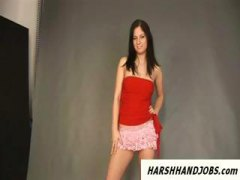 Hungarian model tricked in handjob during ...