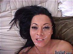 sluts, interracial, facial, cum, got