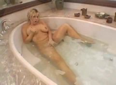 blonde, masturbating, bathroom, anal,