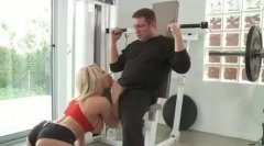 Alpha Porno Movie:Blonde in gym fucked by a buddy