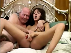 dildo, mature, toys, sucking, brunette