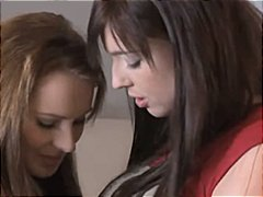 Two cute lesbians in p... video