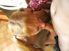 Russian teen sex in kitchen