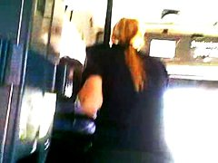 Sexy Police Woman in Bus video