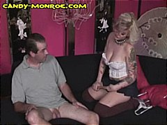 Busty blonde wife shows her hubby what a real cock is supposed to and it's big and black