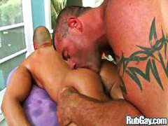 oiled, big cock, drilled, fucking
