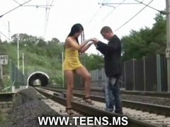 Fucking on the railway... video