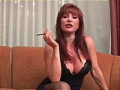 Mature Vanessa smoking... video