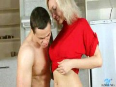 Young housewife fucked fierce in kitchen