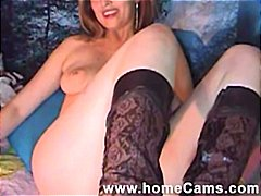 Home video of brunette...