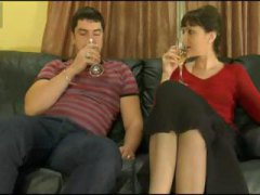 Nuvid Movie:Mature brunette is given a dri...