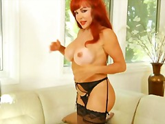Busty mature redheaded... video