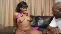 slut, ebony, curvy, big tits, doggystyle