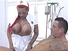 nurse, big tits, busty, uniform, german,