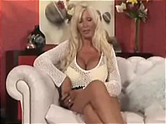 Busty blonde British MILF gets drilled and has a messy facial