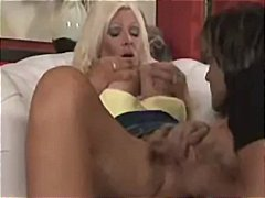 cougar, milf, gets, blonde, deepthroat