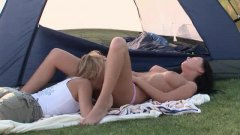 Alpha Porno - Gorgeous babes on camp...