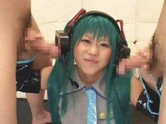 Thumb: Green haired Japanese ...