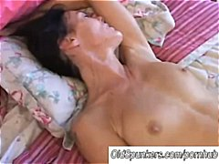 Thumb: Horny brunette mom get...