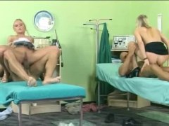 Hospital foursome with good anal hardcore